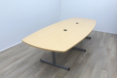 Boat Shape Maple Conference Table
