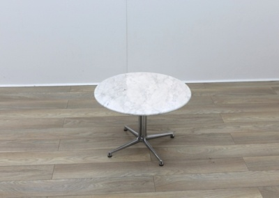 Circular Marble Table With Chrome Legs