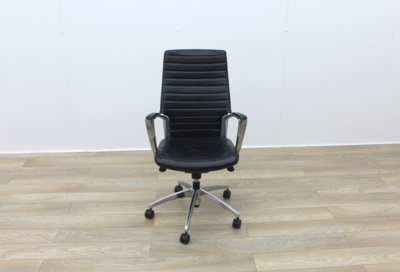 Black Leather Operator/Executive Chairs