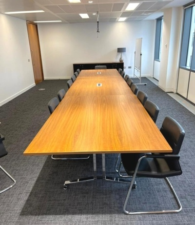Walnut Meeting Table With Power Data