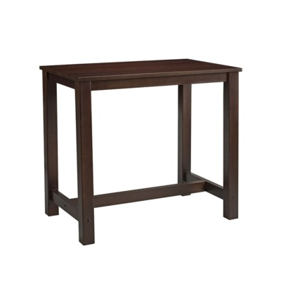 New MIST Dark Walnut Stained Solid Beech and Ash Rectangular Bar Table