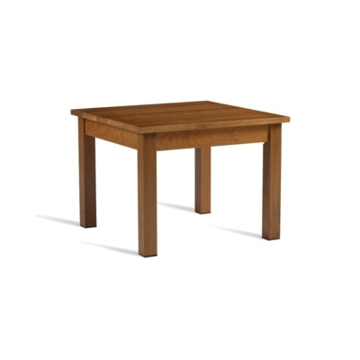 New HUNT Solid Light Oak 600mm Square High Quality Coffee Table