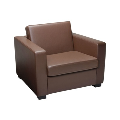 New FORT Brown High Quality Faux Leather Arm Chair