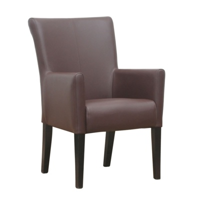 New YORK Brown High Quality Faux Leather Arm Chair