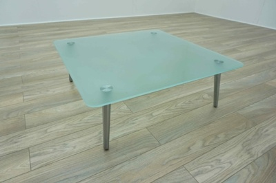 OrangeBox Surf Square Frosted Glass Office Coffee Table