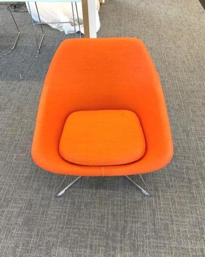 Allermuir Orange Tub Chairs