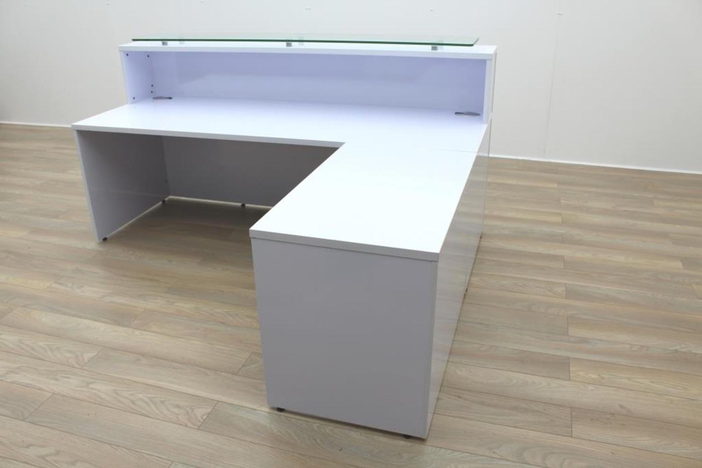 New cancelled order gloss white office reception desk counter ebay - Reception desk ebay ...