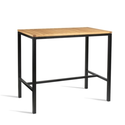 New ICE Powder Coated Metal Frame and Robinia Wood Top Canteen Cafe High Table