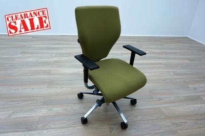 Orangebox X10 Green Fabric Office Task Chairs