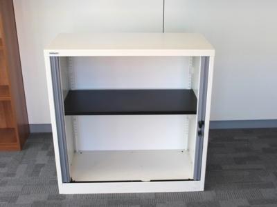 White Bisley Tambour Cupboard