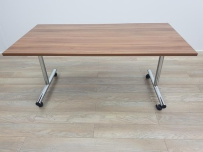 Walnut 1600mm Straight Folding Office Meeting / Training Tables