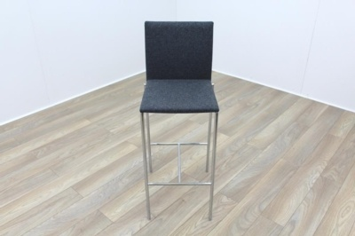 Brunner Grey Fabric Stool