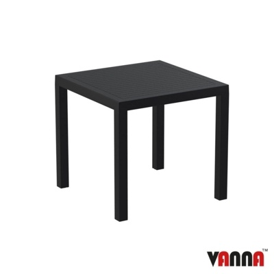 New Black Weather Resistant Durable UV Protected Canteen Cafe Bistro Tables
