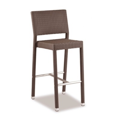 New Brown Mocca Wicker Solana Weave Rattan Style Office Garden Canteen Cafe Bistro Bar Stools