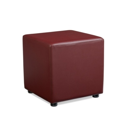 New POP Wine Red High Quality Faux Leather Cube