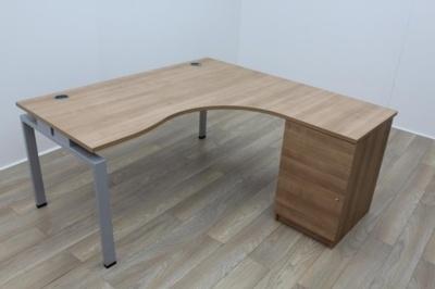 Senator Walnut Corner Desk 1600mm