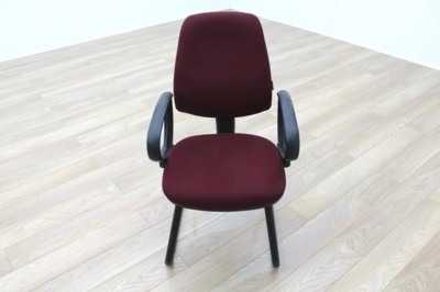 President Burgundy Fabric Office Meeting Chairs