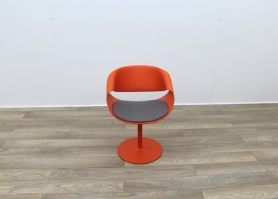 Swivel Red Reception Chairs