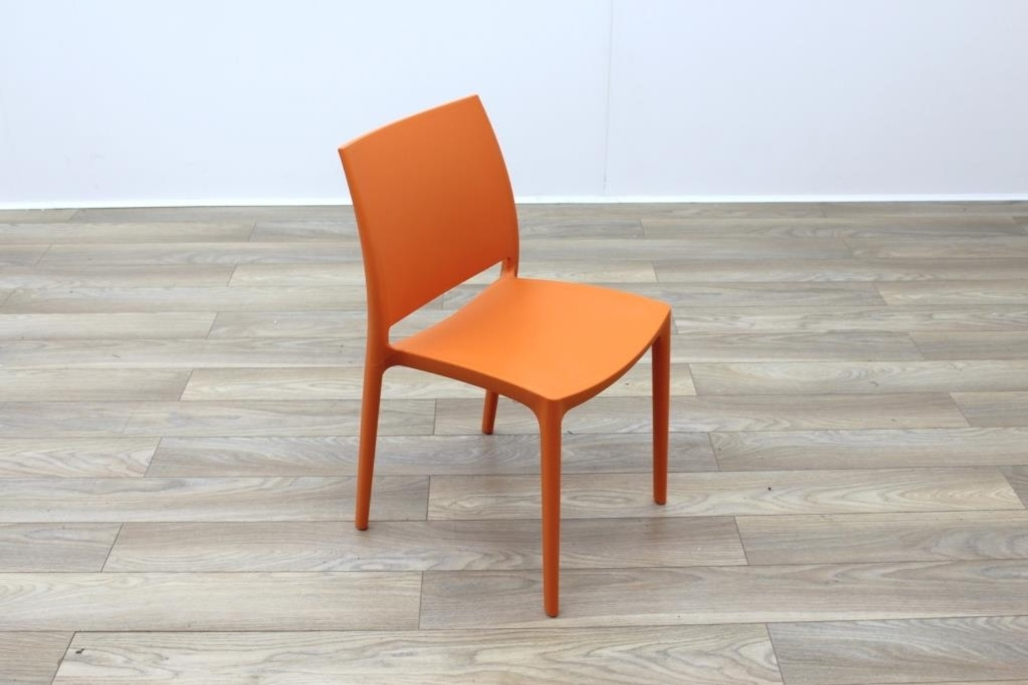 New Orange Moulded Plastic Stacking Office Canteen Cafe Meeting School Chairs