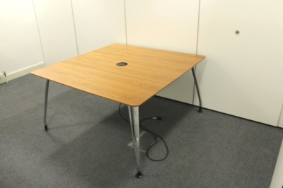 Verco Meeting Table With Cable Management And Chrome Legs