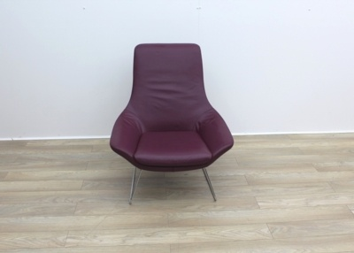 Walter Knoll Flow Armchair in Oxblood Leather