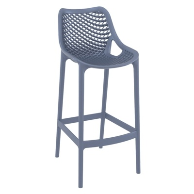 New Anthracite Strong Reinforced Polypropylene, Glass Fibre Canteen Cafe Bar Stool