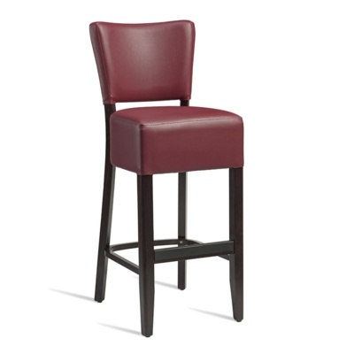 New CLUB Wenge Red high quality faux leather Luxurious Bar Stool