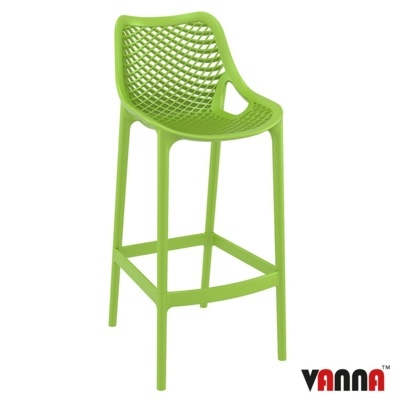 New Tropical Green Strong Reinforced Polypropylene, Glass Fibre Canteen Cafe Bar Stool