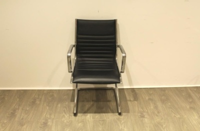 Faux Black Leather Meeting Chairs