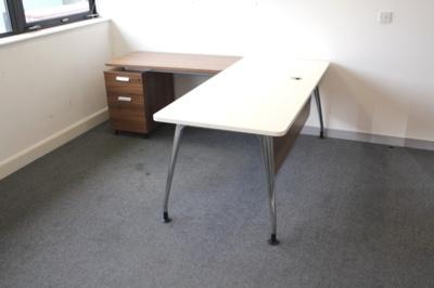 White Verco Executive Desk