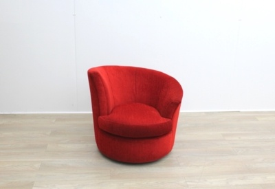 Red Fabric Reception Tub Chairs
