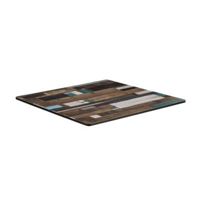 New EXTREMA Driftwood 790mm Square Table