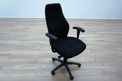 Black Fabric High Sculpted Back Multifunction Office Task Chairs