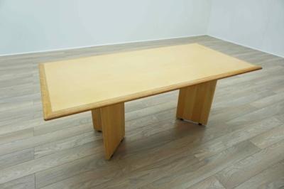 Maple Veneer / Cherry Inlaid Rectangular Executive Office Meeting Table