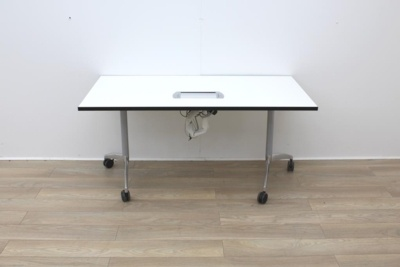 White Folding Meeting/Training Table With Power/ Data