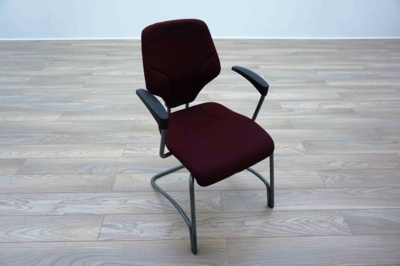 Giroflex G64 Cantilever Burghundy Office Meeting Chair