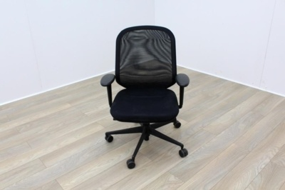 Vitra Medapal Black Fabric Seat Mesh Back Operator Chair