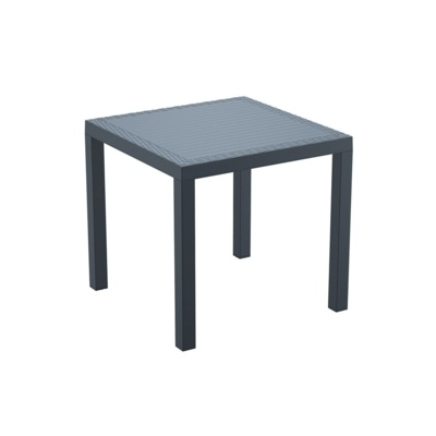 New Dark Grey Weather Resistant Durable Office Canteen Cafe Bistro Tables
