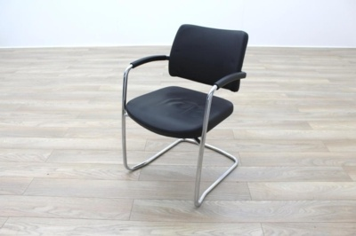 Boss Design Black Leather Executive Office Meeting Chairs