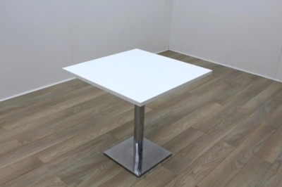 White Square Table 750mm