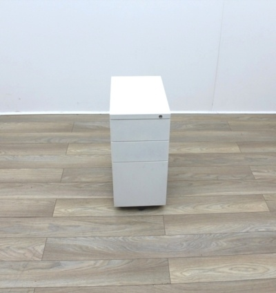 White Slim Under Desk Pedestals