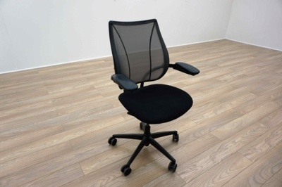 Humanscale Liberty Black Fabric / Grey Mesh Office Task Chairs