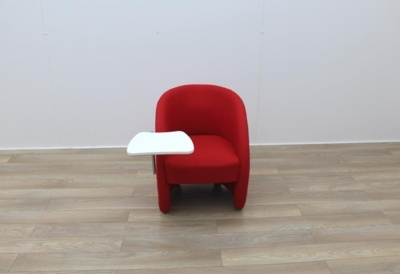 Red Fabric Tub Chairs With Wheels