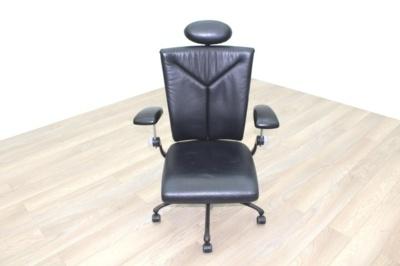 Vitra Black Leather Executive/Operator Chair