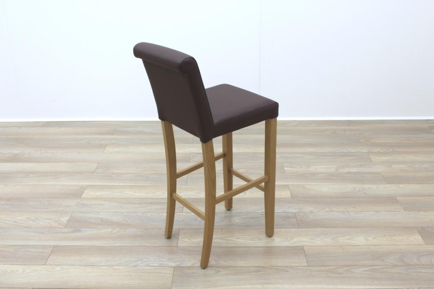 Restaurant Quality Bar Stools New Brown Leather Contract