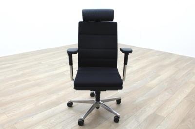 Sedus MR 24 Black Fabric 24hr Task Chair w/ Headrest