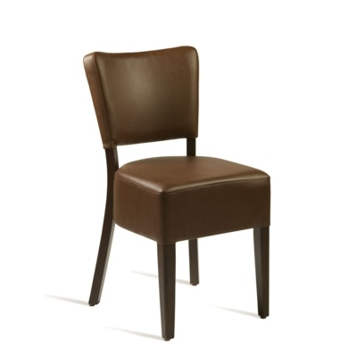 New CLUB Wenge Brown high quality faux leather Luxurious side chair
