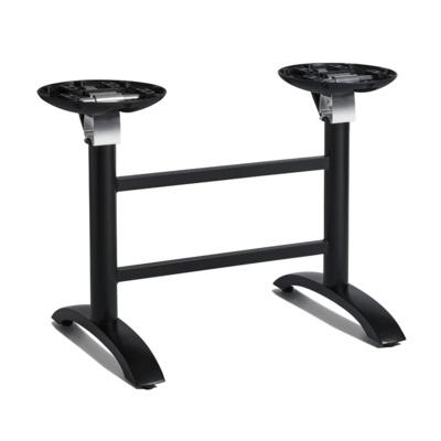 New SPACEGUARD Black Aluminium Flip Top Deluxe Double Table Base