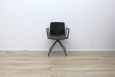 Four Grey Meeting Chair With Material Seat