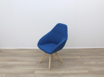 Blue Fabric Reception Chair